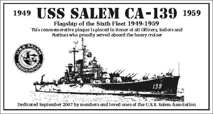 Panel 1 USS Salem CA-139